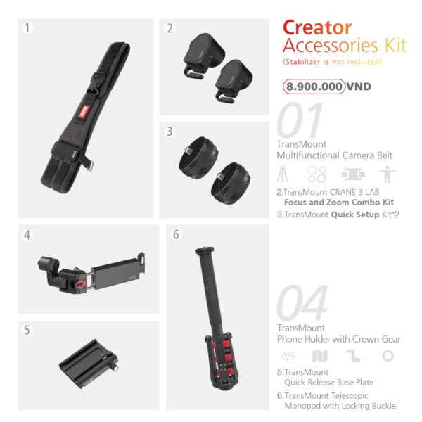 Crane 3 LAB Creator Accessories Kit