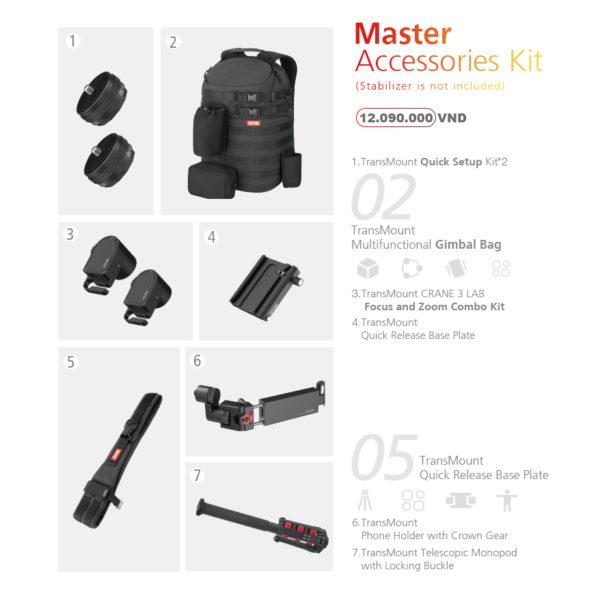 Crane 3 LAB Master Accessories Kit