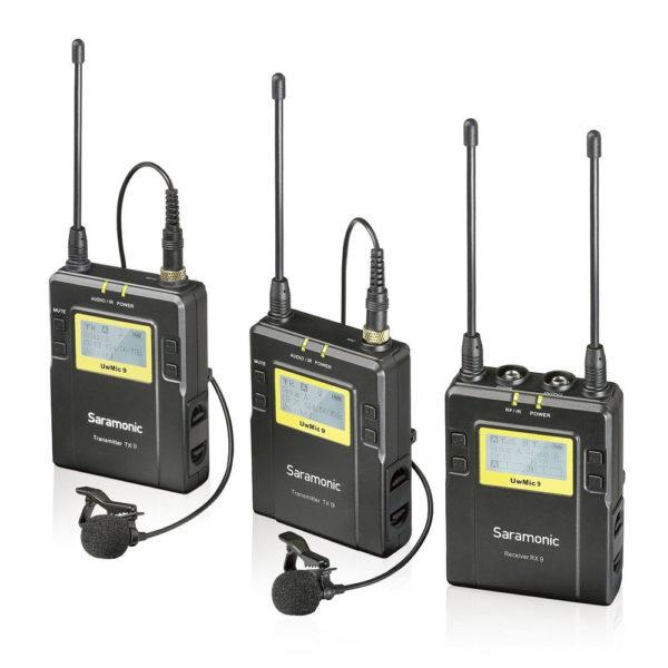 Saramonic Wireless System- UwMic9 Kit 2 (TX9+TX9+RX9) (FS121)