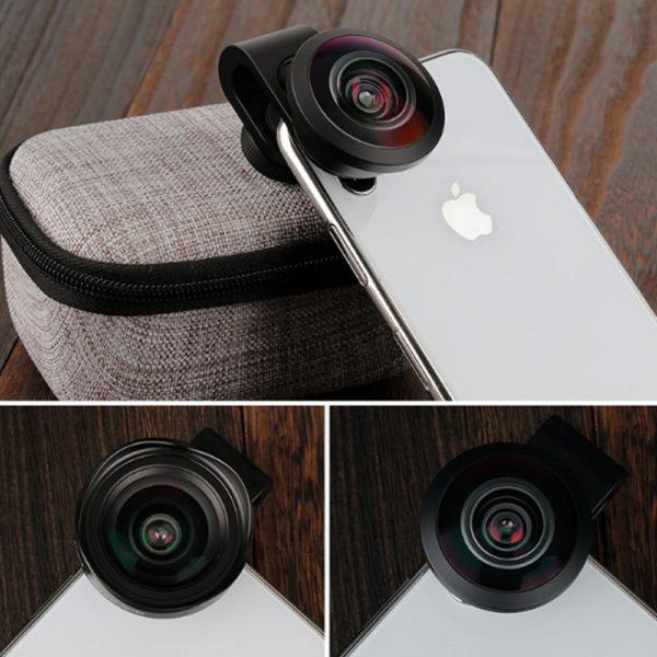 Lens dành cho điện thoại-Ulanzi 7.5mm 238 Degree Fisheye HD Lens FULB1