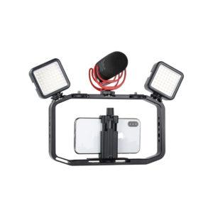 Smartphone Video Rig/Grip FUBA4 (Dụng cụ hỗ trợ quay trên Điện Thoại)