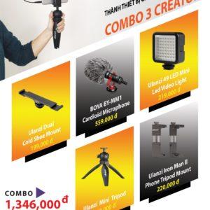 Biến Điện Thoại thành thiết bị ghi hình chuyên nghiệp- COMBO 3 CREATOR (FU003)