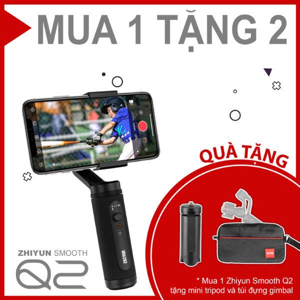 (Mua 1 tặng 2) Zhiyun Smooth Q2- Tay cầm chống rung bỏ túi