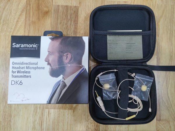 Micrô tai nghe đa hướng cho máy phát không dây | DK6A Headset Mic 3.5mm Universal – Saramonic (FS551)