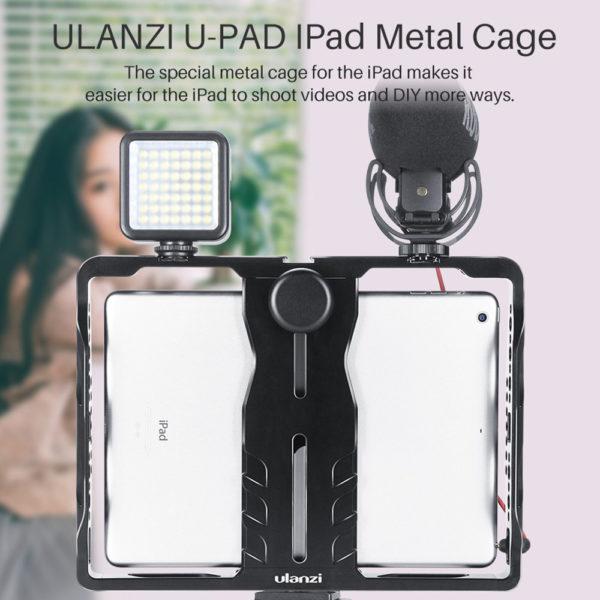 Khung Giá Đỡ Dành cho iPad Pro /Air /Mini – FUAH2 Ulanzi U-pad IPad Metal Cage – Hàng Chính Hãng