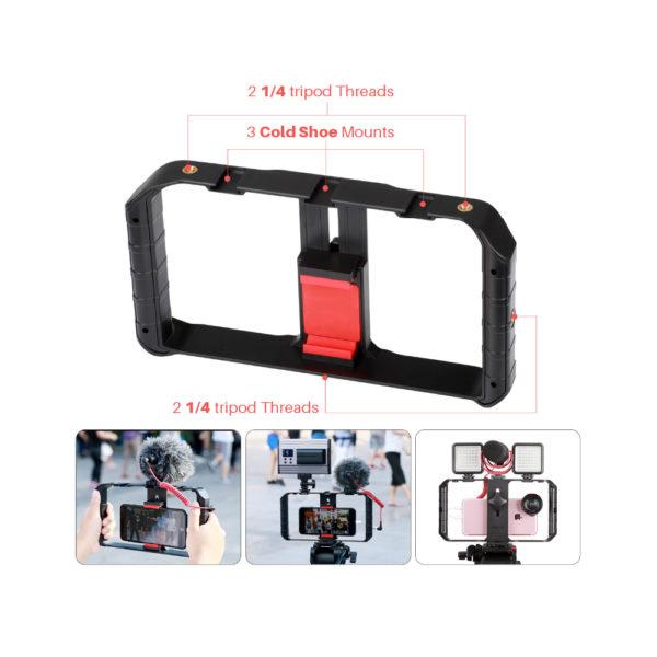 Kit V3 – Biến Điện Thoại thành thiết bị ghi hình chuyên nghiệp – COMBO 2 PRO