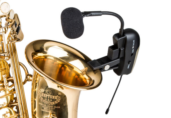 ACEMIC EX-200/ST-4 Dual channel UHF Dual Channel Wireless Saxophone Microphone,Trumpet microphone, Horn microphone
