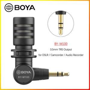 BOYA M100 Mic thu âm Plug-in dành cho điện thoại, máy ảnh, máy tính