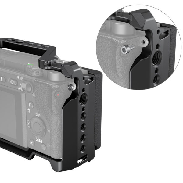 Khung và Báng tay cầm Silicone cho Máy ảnh Sony A6400/A6300/A6100 – SmallRig 3164 (NRSAB4)