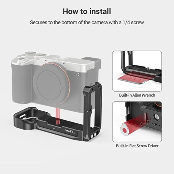 Giá đỡ hình chữ L cho máy ảnh Sony A7C – SmallRig 3089 (NRS52)