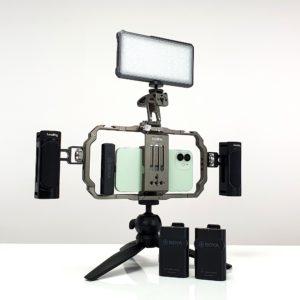 PHOTOCITY YOUTUBER KIT X1 – Combo Mic thu âm BOYA BY-WM4 Pro K4 dành cho Điện thoại