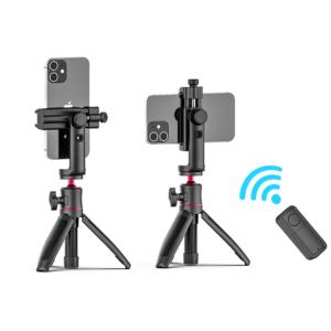 ULANZI ST-25 Ngàm kẹp điện thoại kèm Remote Bluetooth cho Android 8.0 và iOS 8.0 trở lên, xoay 360°
